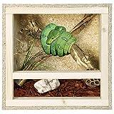 REPITERRA Terrarium Reptiles & Batraciens En Bois OSB, Facile à Monter avec Aération sur la Face Avant - 120x60x60cm