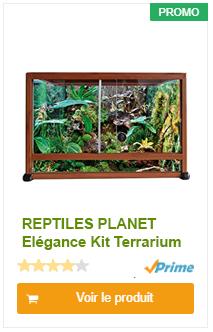 REPTILES PLANET Elégance Kit Terrarium en Aluminium pour Dragon d'Eau Texture Bois 120 x 50 x 90 cm